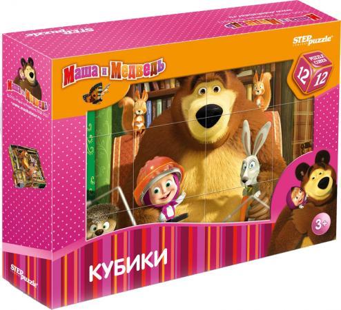 Кубики Степ Маша и Медведь 12 шт 87134 степ пазл кубики маша и медведь 9 шт step puzzle