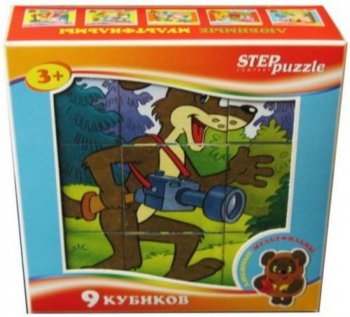 Кубик Step Puzzle Любимые мультфильмы-4 9 шт пазл step puzzle союзмультфильм любимые мультфильмы 4 54 эл в ассортименте