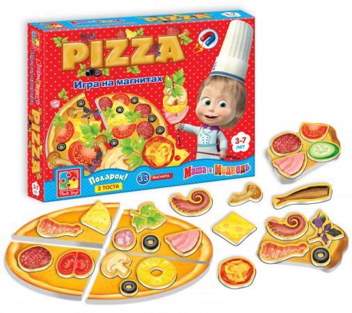 Магнитная игра развивающая Vladi toys «Маша и Медведь» Пицца VT3003-02 vladi toys кд умнички пиши и вытирай корова
