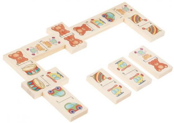 Настольная игра домино Русские деревянные игрушки Игрушки-1  Д204а русские деревянные игрушки