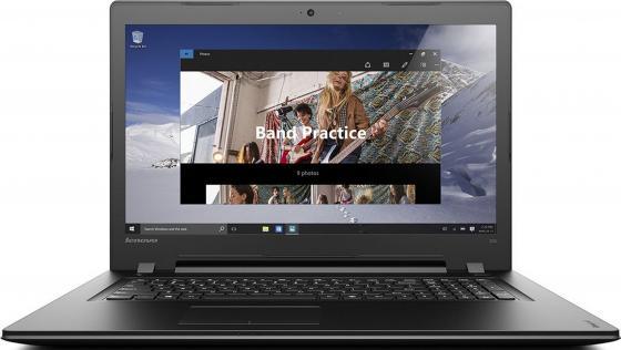 Ноутбук Lenovo IdeaPad 300-17 17.3 1600x900 Intel Pentium-4405U 500Gb 4Gb AMD Radeon R5 M330 2048 Мб черный Windows 10 Home 80QH00F7RK ноутбук asus x751sj ty017t pentium n3700 1 6ghz 17 3 4gb 500gb dvdrw gt920m 1gb w10 black 90nb07s1 m00860