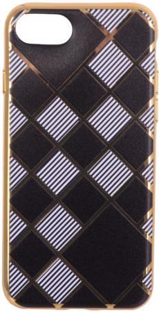 Накладка LP Клетка с полосками для iPhone 7 золотой 0L-00029551