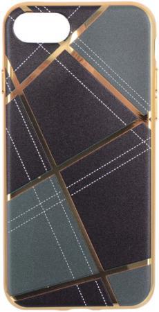 Накладка LP Клетка бежевая для iPhone 7 золотой 0L-00029560