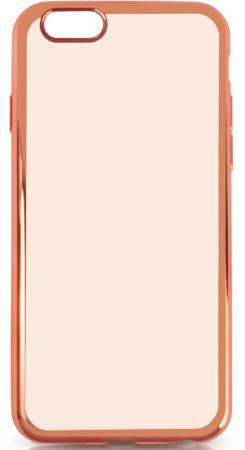 купить Силиконовый чехол с рамкой для iPhone 7 Plus DF iCase-09 (rose gold) недорого