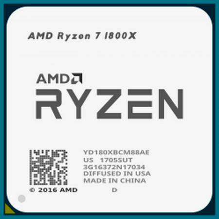 Процессор AMD Ryzen 7 1800X YD180XBCM88AE Socket AM4 OEM процессор amd ryzen 5 1400 oem 65w 4c 8t 3 4gh max 10mb l2 2mb l3 8mb am4 yd1400bbm4kae