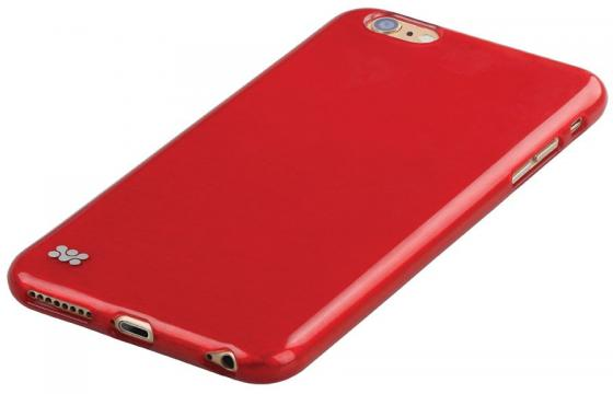 Накладка Promate Schema-i6P для iPhone 6 Plus красный наушник promate snazzy зеленый