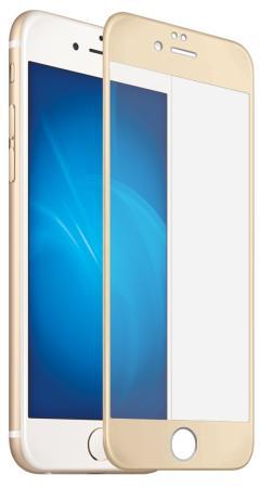 Защитное стекло 3D DF iColor-09 (gold) для iPhone 7 0.33 мм цена и фото