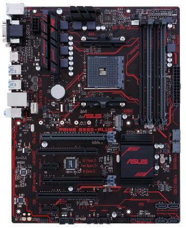 Материнская плата ASUS PRIME B350-PLUS Socket AM4 AMD B350 4xDDR4 2xPCI-E 16x 2xPCI 2xPCI-E 1x 4xSATAIII ATX Retail asus p5qpl am в киеве