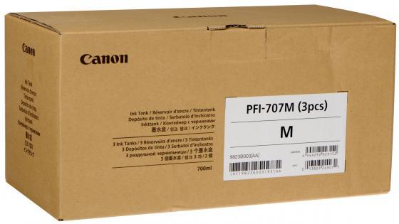 Картридж Canon PFI-707 M для iPF830/840/850 пурпурный тройная упаковка 9823B003 картридж hp cf381a 312a cyan для color laserjet pro m476 2700стр