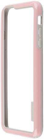 Бампер для iPhone 6/6s Plus HOCO Coupe Series Double Color Bracket Bumper Case (розовый) R0007621 аксессуар чехол накладка hoco steel series double color для apple iphone 6 plus golden