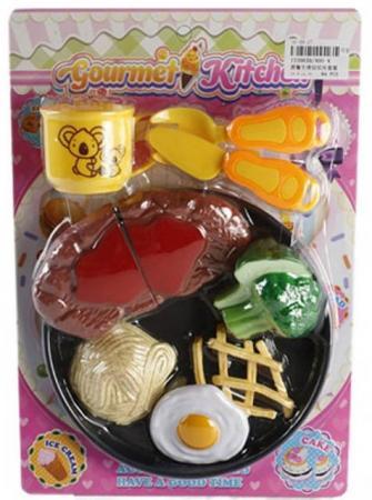 Набор продуктов Shantou Gepai Gourmet Kitchen с посудой 400-4 игровой набор shantou gepai калькулятор с набором продуктов 1608a