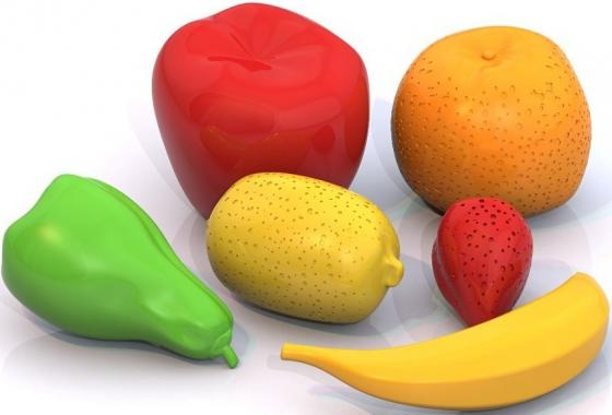 Набор фруктов Нордпласт 6 предметов 433 песочный набор нордпласт снеговик 12