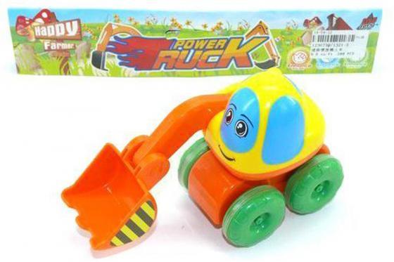 Экскаватор Shantou Gepai Power Truck разноцветный 1321-5 экскаватор игрушечный pullman игрушка экскаватор и грузовик