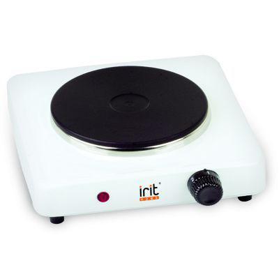 лучшая цена Электроплитка Irit IR-8004 белый чёрный