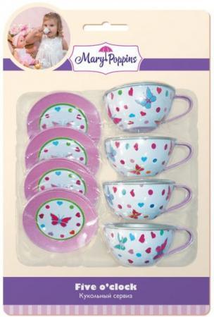 Набор посуды Mary Poppins Бабочки металлическая 453023 кровать для куклы mary poppins бабочки с балдахином металлическая