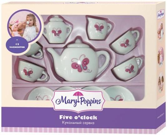 цены Набор посуды Mary Poppins Бабочка, 13 предметов фарфоровая 453014