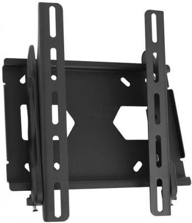 Кронштейн Holder LCD-T2512-B черный для ЖК ТВ 10-42 настенный от стены 63мм наклон +15/-3° VESA 300x300 до 40 кг кронштейн для утюга holder ir f1 w