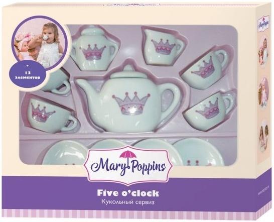 Набор посуды Mary Poppins Корона, 13 предметов фарфоровая 453013 набор посуды mary poppins бабочка 13 предметов фарфоровая 453014