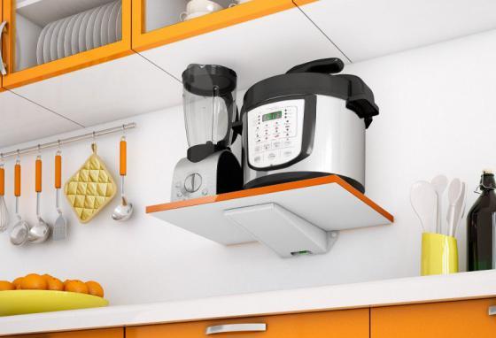 Полка для СВЧ-печей Holder SKA-O белый оранжевый max 40 кг пена top house д плит свч печей 500мл