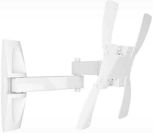 цена на Кронштейн Holder LCDS-5046 белый для ЖК ТВ 22-42 настенный от стены 510мм наклон +15°/25° поворот 350° до 30кг