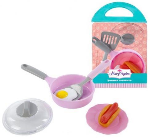 Набор посуды для готовки Mary Poppins Учимся готовить - Завтрак 453034 ролевые игры mary poppins набор посуды для готовки 453030