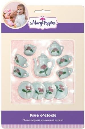 Набор посуды Mary Poppins Роза, 13 предметов фарфоровый 453019 фантазер josephine набор плетение из фольги серебрянная роза