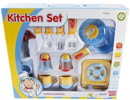 Набор посуды Shantou Gepai с плитой Медвежонок NF685-29 набор посуды shantou gepai kitchen в тележке 6669 1