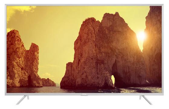 Телевизор LED 55 TCL L55P2US серебристый 3840x2160 60 Гц Wi-Fi Smart TV VGA USB RJ-45 телевизор led 65 tcl l65c1cus curve черный серебристый 3840x2160 60 гц smart tv wi fi vga rj 45