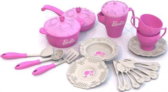Набор посуды Нордпласт Барби, 21 предмет в сетке Н-639 639 нордпласт мишка 21 5х22х47 см н 066