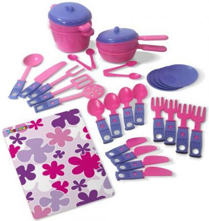 Набор посуды ZebraToys Обеденный 15-10037-2 zebratoys набор игрушечной посудки zebratoys повар 7 предметов