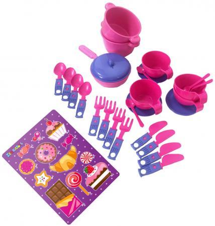 Купить Набор посуды ZebraToys Чайный 15-10037-1, Игровая посуда