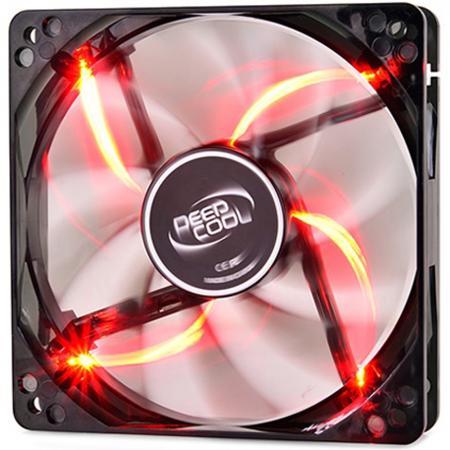Вентилятор Deepcool WIND BLADE 80 Red 80x80x25 3pin 20dB 1800rpm 60g красный LED вентилятор для корпуса deepcool wind blade 80 wind blade 80