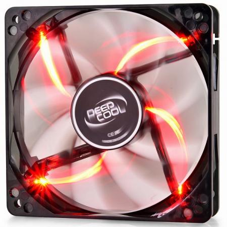 Вентилятор Deepcool WIND BLADE 120 Red 120x120x25 3pin 27dB 1300rpm 119g красный LED вентилятор deepcool wind blade 120 red 120x120x25 3pin 27db 1300rpm 119g красный led