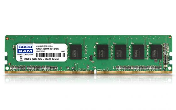 Оперативная память 8Gb PC4-17000 2133MHz DDR4 DIMM GoodRAM CL15 GR2133D464L15S/8G цена и фото