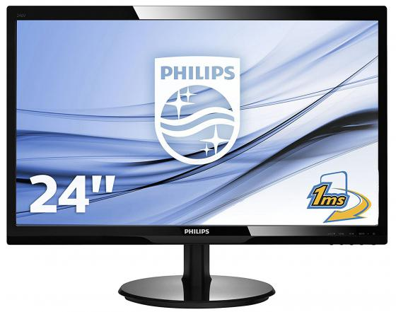 Монитор 24 Philips 246V5LDSB черный TFT-TN 1920x1080 250 cd/m^2 1 ms DVI HDMI VGA Аудио