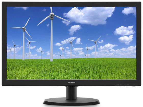 Монитор 22 Philips 223S5LSB черный TN 1920x1080 250 cd/m^2 5 ms DVI VGA монитор 20 philips 200v4qsbr черный mva 1920x1080 250 cd m^2 8 ms vga dvi