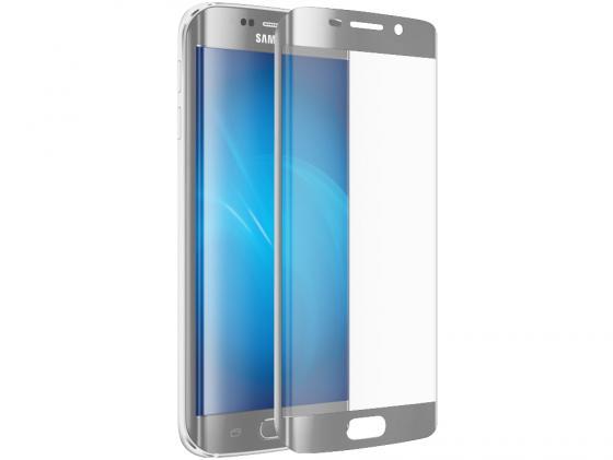 все цены на  Защитное стекло DF sColor-06 для Samsung Galaxy S7 Edge 3D с рамкой серебристый металлик  онлайн