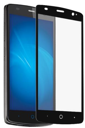 Защитное стекло DF zColor-06 для ZTE Blade L5 Plus с рамкой черный комплект стеклоочистителей denso wb flat blade 700 650 мм df 038