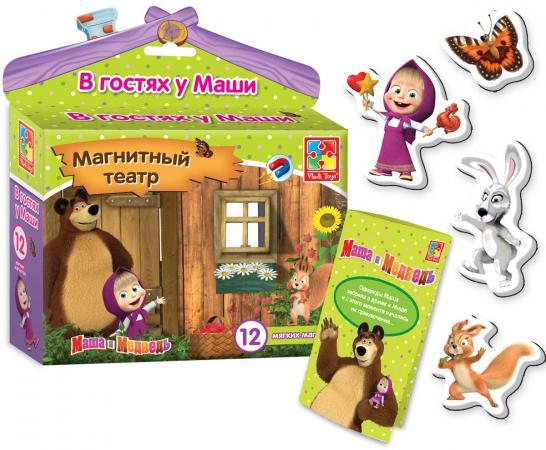 Магнитный театр Vladi toys Маша и медведь: В гостях у Маши 12 предметов VT3206-22 игрушка vladi toys магнитный театр маша и медведь красота страшная сила vt3206 17