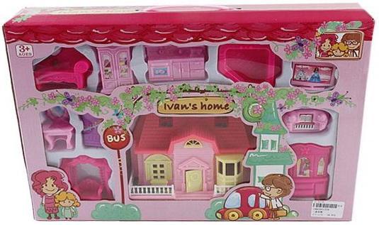 Дом для кукол Shantou Gepai Вилла розовая с набором мебели 234 все цены
