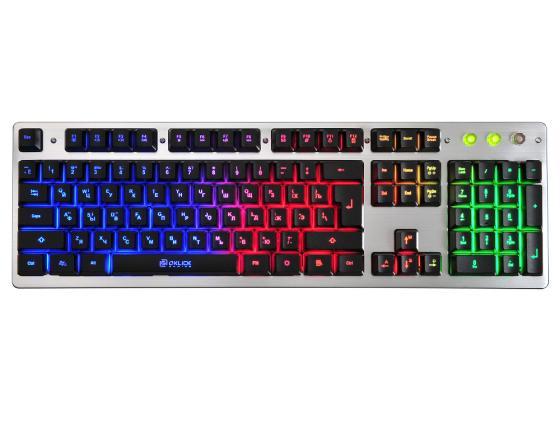 лучшая цена Клавиатура проводная Oklick 770G USB черный серый
