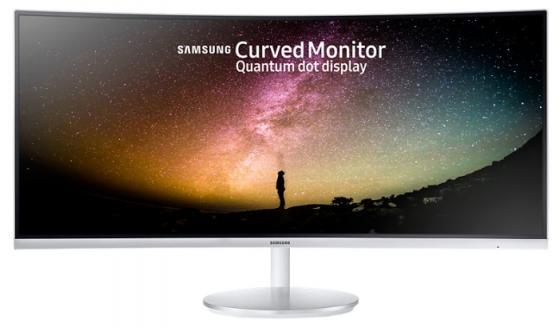 Монитор 34 Samsung C34F791WQI белый VA 3440x1440 300 cd/m^2 4 ms HDMI DisplayPort Аудио USB