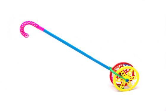 Каталка на палочке Karolina Toys Колесо пластик от 1 года разноцветный  40-0032 мозаика напольная karolina toys 40 0031