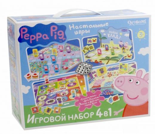 Настольная игра набор игр ОРИГАМИ 4 в 1 «Свинка Пеппа» 1601 origami peppa pig настольная игра прятки