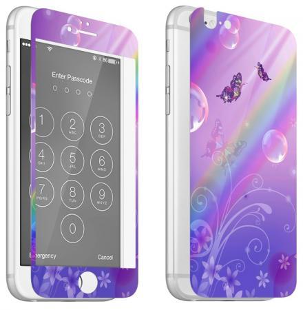 Защитное стекло ударопрочное DF iPicture-03 (Butterfly) для iPhone 6 iPhone 6S 0.33 мм 2шт gumai silky case for iphone 6 6s black
