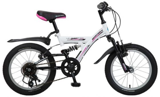 """Велосипед двухколёсный Novatrack """"Dart"""" 16"""" белый 5 скоростей, Microshift, алюм.обода, амортизатор"""