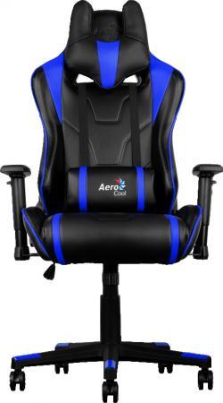 Кресло компьютерное игровое Aerocool AC220-BB черно-синий 4710700959725 цена и фото