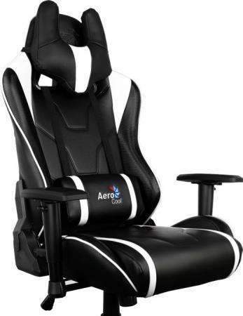 Кресло компьютерное игровое Aerocool AC220-BW бело-черный 4710700959695 цена и фото