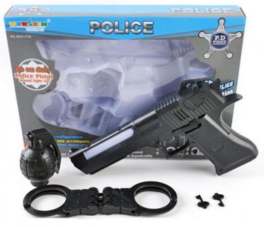Игровой набор Shantou Gepai Полицейский 5 предметов свет, звук WEX-C3D игровой набор shantou gepai парикмахер 8 предметов 22146