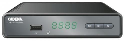 Фото - Тюнер цифровой DVB-T2 Cadena CDT-1651SB цифровой телевизионный dvb t2 ресивер cadena cdt 1793